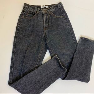 Black acid wash Calvin Klein high waisted jeans